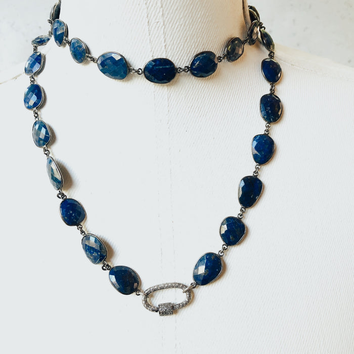 The Lapis Faceted Necklace