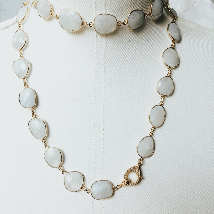 The Moonstone Faceted Necklace
