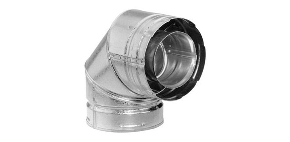 Duravent Galvanised Flue Elbow