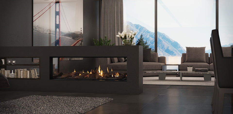 Escea DS1400 Gas Fireplace - Double Sided