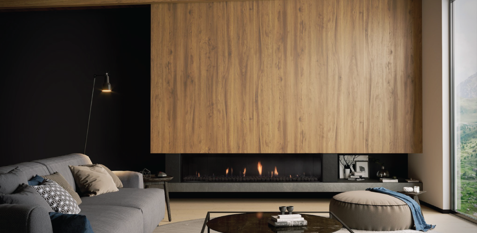 Escea DS1900 Gas Fireplace - Single Sided