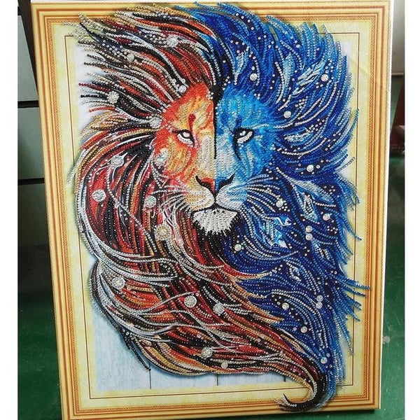 Best Special Style Lion Pattern Diy 5d Full Diamond Painting Kits UK QB5867