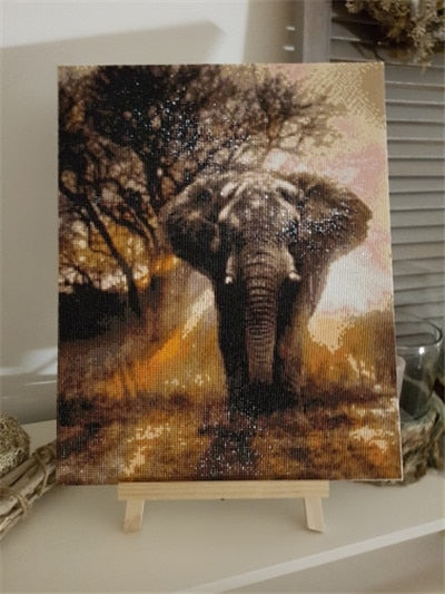 Elephant In Natural 5d Diy Diamond Painting Kits