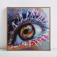 2019 Dream Colorful Eye Portrait 5d Diy UK Crystal Diamond Painting VM1019