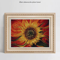 Modern Art Sunflower Abstract Patterns 5d Diy Diamond Painting Kits UK VM79937