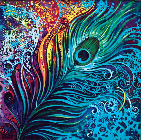 Modern Art 2019 New Full Square Drill Peacock Feathers Diy 5d Diamond Painting Set UK VM20071