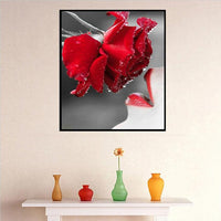 2019 New Hot Sale Full Square Red Rose 5d Diy Diamond Painting Flowers UK VM2003