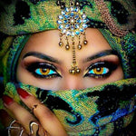 Hot Sale Dream Masked Beauty Eyes 5d Diy Diamond Painting Kits UK VM8390