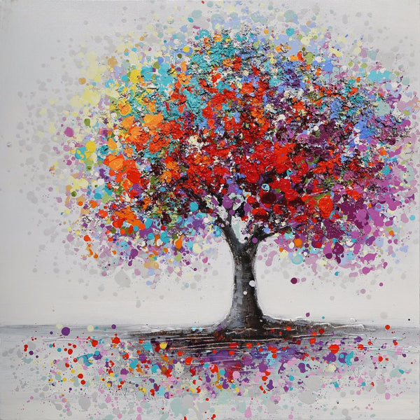 Cheap Oil Painting Style Dream Tree Pattern 5d Diy Diamond Painting Kits UK VM9659