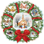 Full Square Drill Cartoon Christmas Houses 5d Diy Diamond Painting Kits UK VM8146