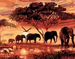 New Home Decorate Elephant Diy 5d Diamond Painting Kits UK QB5385