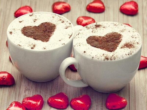 Hot Sale Heart Coffee Cup 5d Diy Diamond Painting Kits UK NA0988