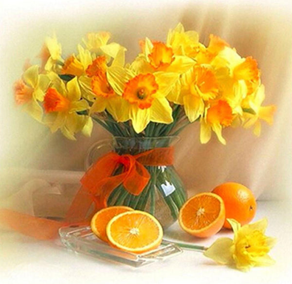 2019 Cheap Home Decorate Yellow Flower 5d Diy Diamond Painting Kits UK VM2016