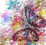 New Colorful Watercolor Butterfly Diy 5d Full Diamond Painting Kits UK QB5497