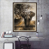 Cheap Hot Sale Elephant In Natural 5d Diy Diamond Painting Kits UK VM1002