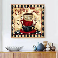 New Hot Sale Coffee Cup Home Decor 5d Diy Diamond Painting Kits UK VM09860