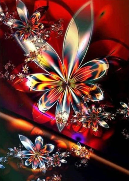 Colorful Modern Art Abstract Flower Diamond Painting Kits UK VM7379