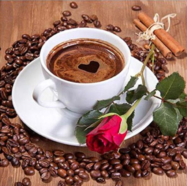 Coffee Cup 2019 New Hot Sale DIY Diamond Painting Cross Stitch Kits UK VM77451