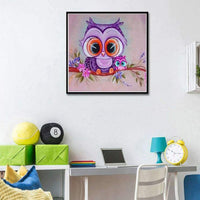 Cheap Special Colorful Cute Owls 5d Diy Rhinestone Cross Stitch UK VM1371
