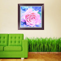 Romantic Hot Sale Pink  Rose Diamond Painting Kits UK AF9313