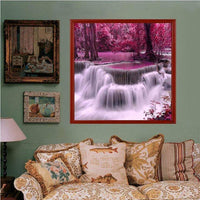 2019 New Arrival Beautiful Autumn Series Waterfalls Diamond Painting Kits AF9407