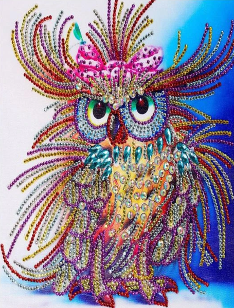 Hot Sale Lovely Colorful Owl Diamond Painting Kits UK AF9273