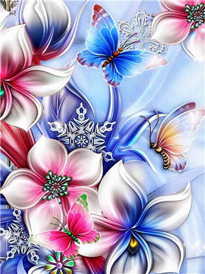 2019 Modern Art Cross Stitch Flower Butterfly 5d Diy Diamond Painting Kits UK VM932