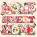 Bedazzled Hot Sale Letter Sweet Home 5d Diy Rhinestone Painting Kit UK VM65403