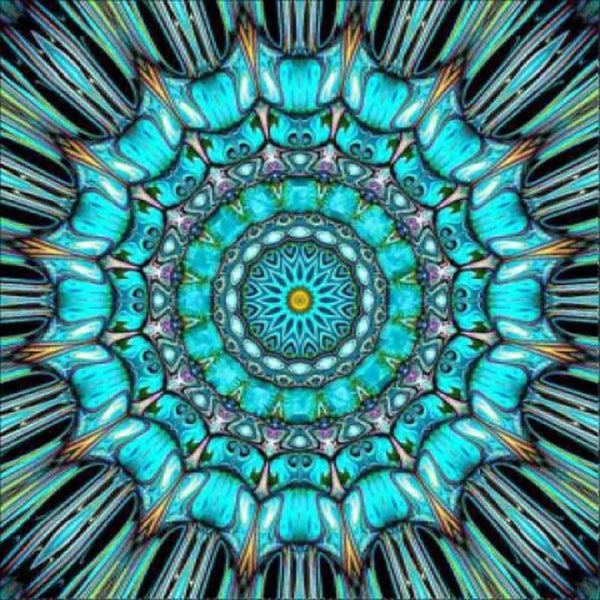 2019 Full Square Modern Art Abstract Mandala Pattern 5d Diy Diamond Painting Kits UK VM8663