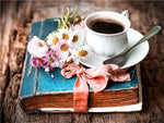 New Hot Sale Coffee Cup And Flower Diy 5d Diamond Painting Kits UK VM03004