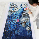 Special Popular Wall Decor Beautiful Peacock 5d Diy Cross Stitch UK VM1367