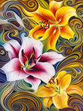 2019 Modern Art Colorful Abstract Flower Pattern 5d Diy Diamond Painting Kits UK VM71861