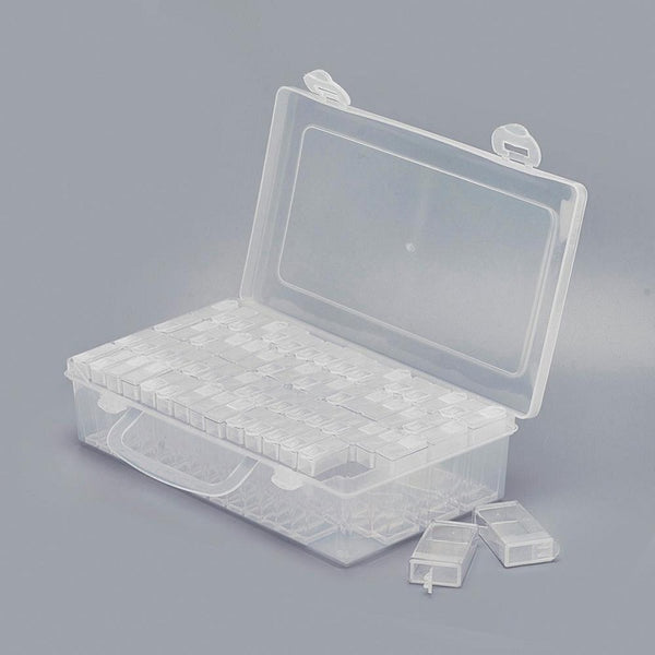 5D DIY Diamond Painting Box Tools Bead Transparent Plastic Box VM9901