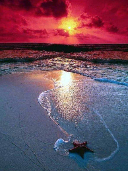 2019 Dream Landscape Natural Beach Sunset 5d Diy Diamond Painting Kits UK VM9699