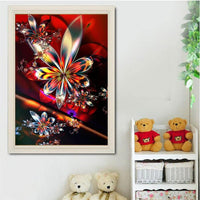 2019 Colorful Modern Art Abstract Flower Diamond Painting Kits UK VM7379