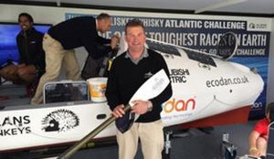 Matthew Pinsent Tries The Glenarm Organic Salmon Branded Blade for Size