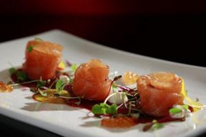Beetroot Carpaccio With Cured Organic Salmon