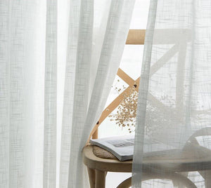 Grey Tulle Curtains