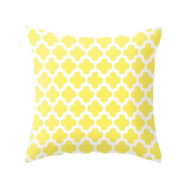 Yellow Patterns Cushion Covers