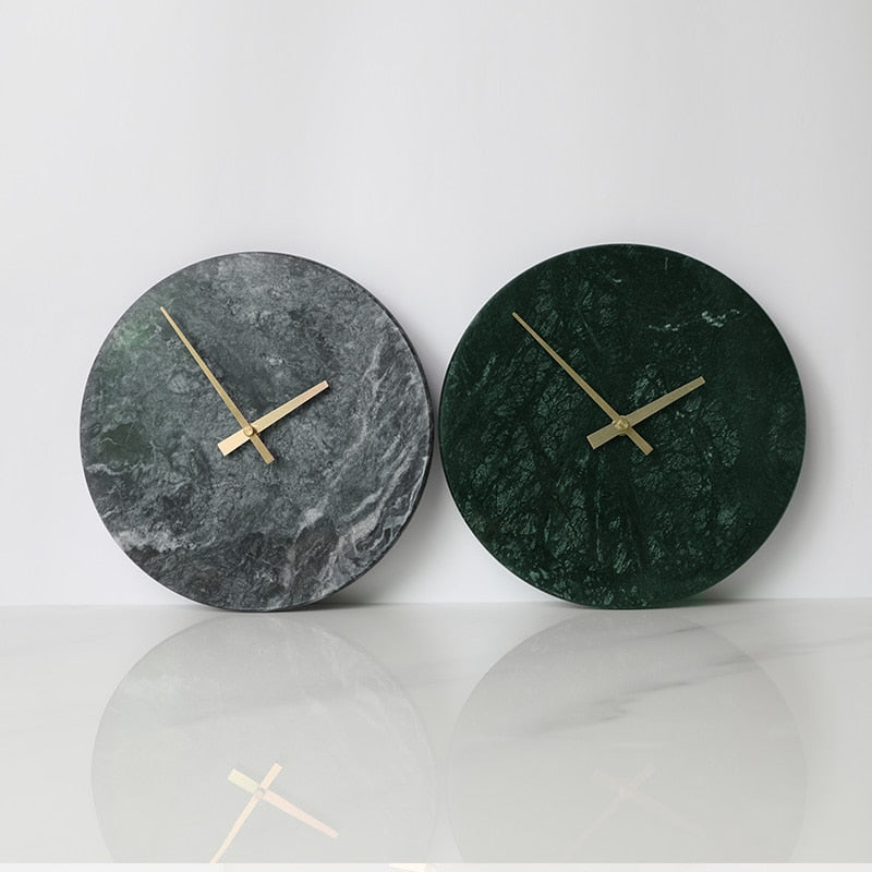 Moon Light Marble Wall Clock