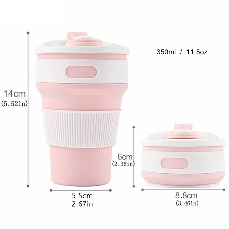 Folding Portable Silicone Drinking  Cup