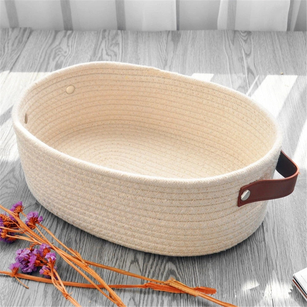 Woven Rope Storage Basket