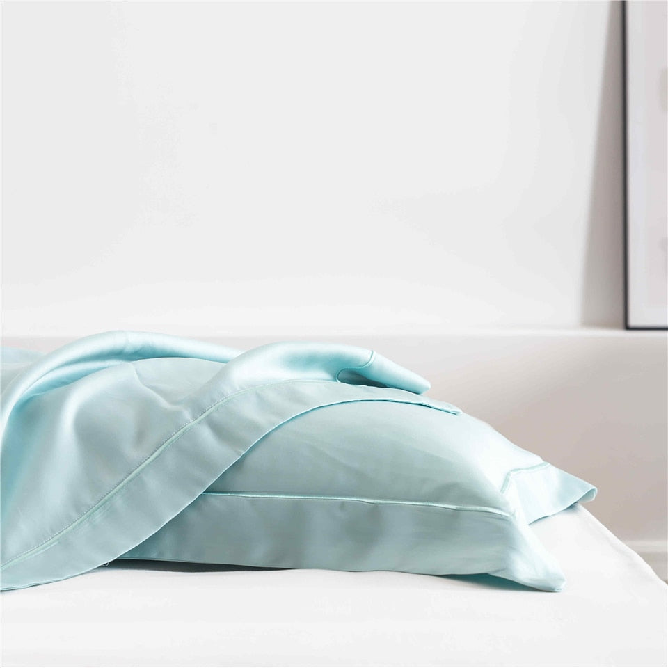 Soft Blue Silk  Pillowcase