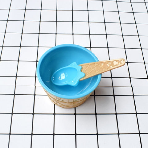 Ice Cream Bowl And Spoon
