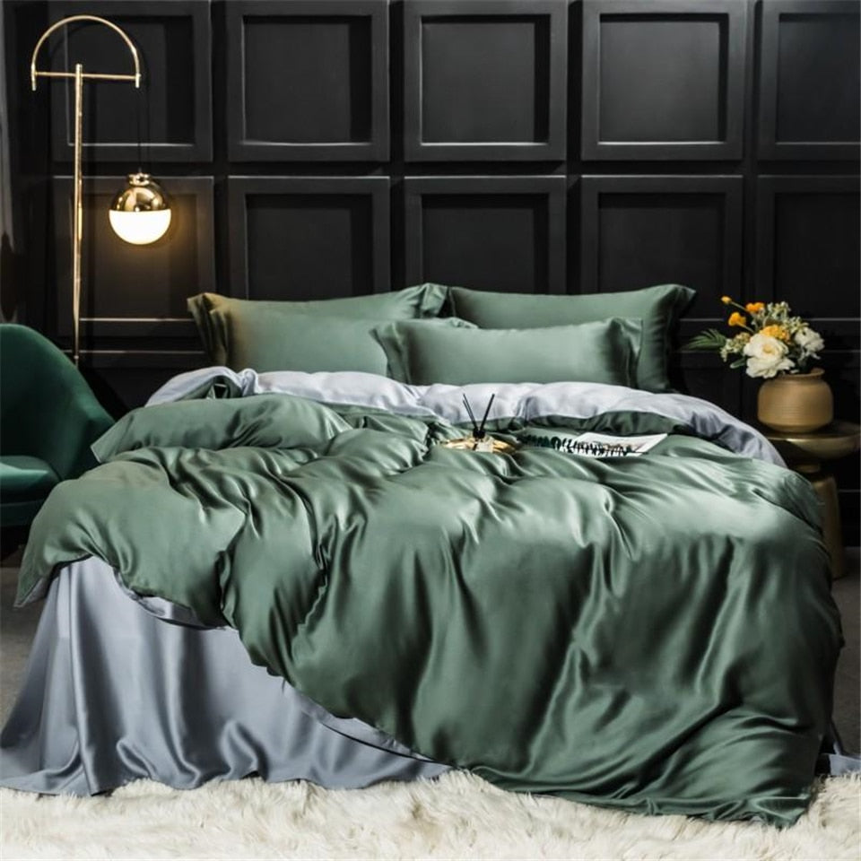 Green Silk Bedding Set