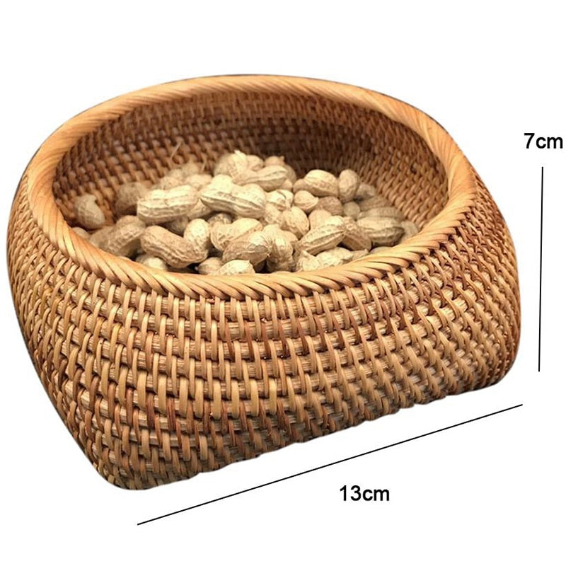 Rattan Bread Box