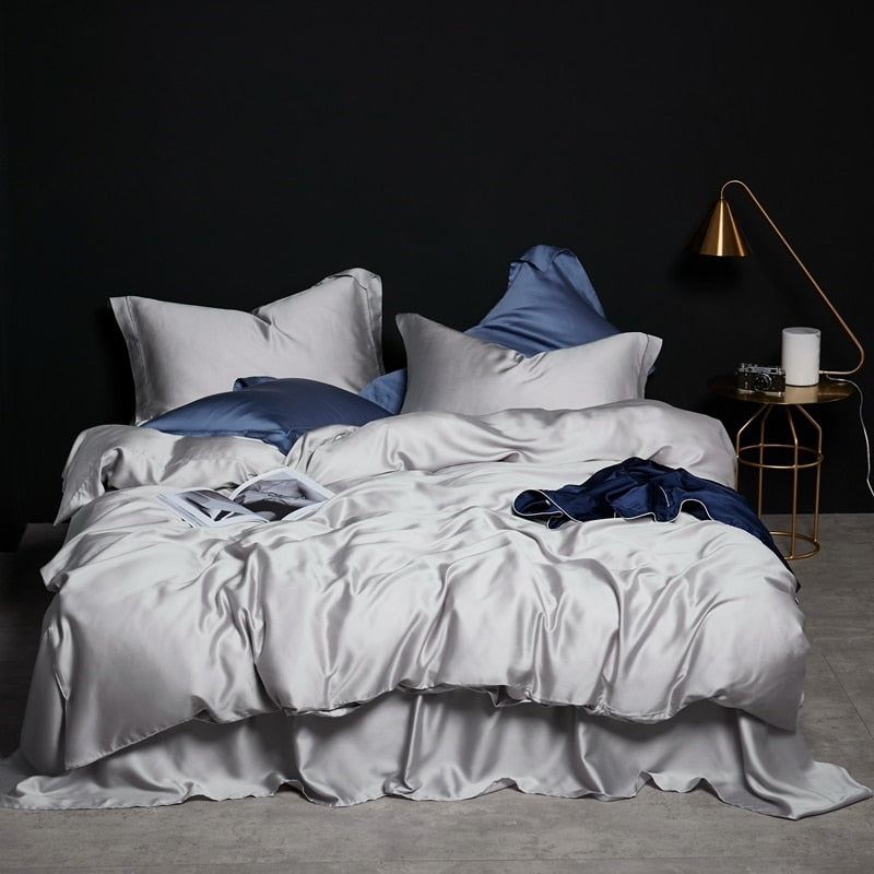 Icy Silver Bedding Set
