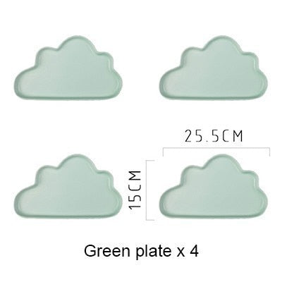 Clouds Porcelain Plates
