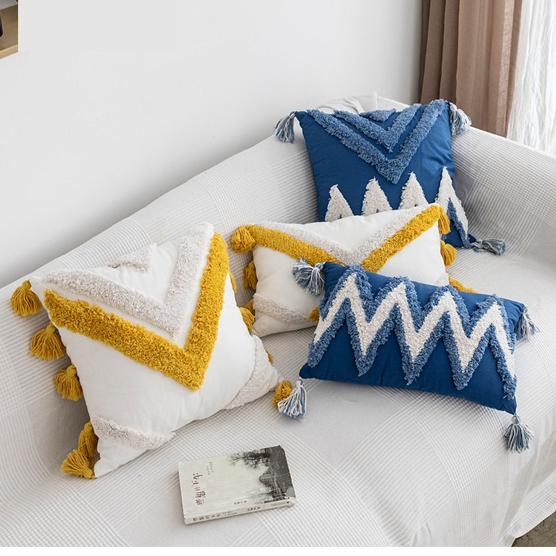 Tassels Cushion Cover