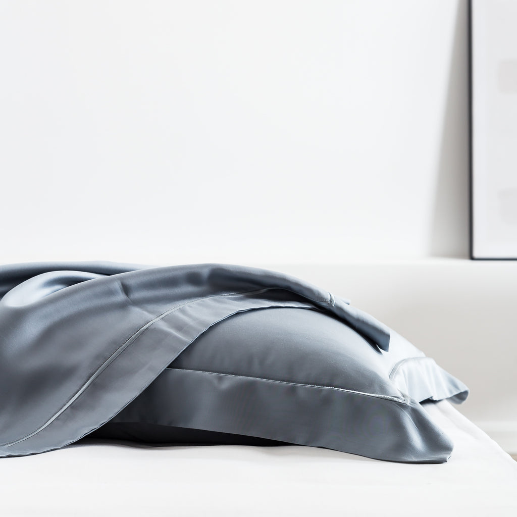 Ash Gray Silk  Pillowcase
